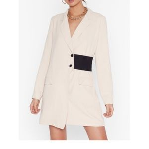 Nothing Gets Contrast Me Mini Blazer Dress